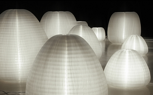 Translucent light fixture with 100% recyclable polyethylene