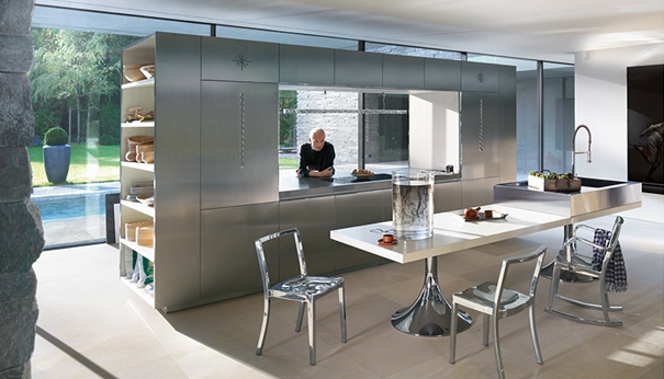 German Kitchen Cabinets Designed by Philippe Starck