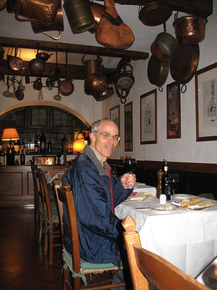 Inside restaurant La Buca di Sant'Antonio in Lucca