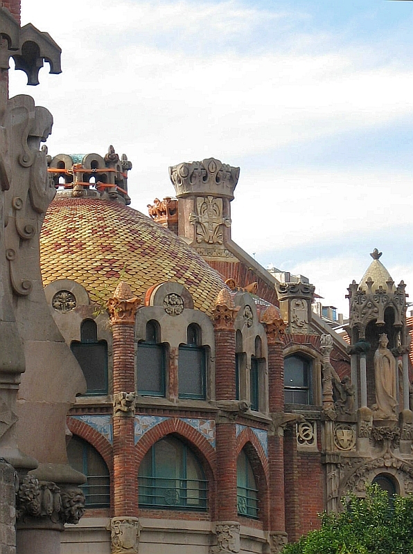 View of roof of Hospital Sant Pau