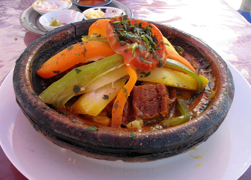 The camel tagine is quite flavorful, tender but slightly chewy. Being a Muslim country, beverages were limited to coffee, mint tea and juice shakes. With coffee, tea, and an avocado shake, the entire tab was still under $14!