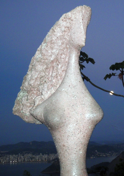 Rio Sugar Loaf Sculpture at dusk