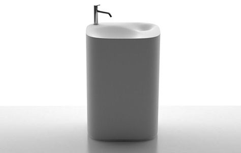 Agape's Nivis pedestal sink