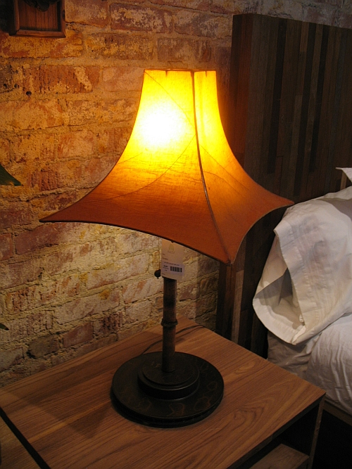 Table Lamp made from Salvaged Copper Piping